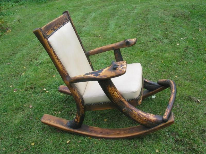 Кресло-качалка из дерева своими руками фото