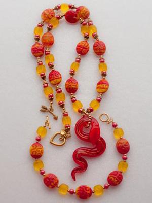 Red Mumba, Стеклянная бижутерия, комплекты бижутерии