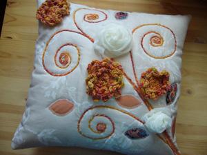 Подушка «Букет», Подушки ручной работы, пледы ручной работы