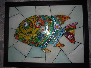 панно «Рыба Фугу», Купить картину в интернет магазине