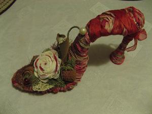 Интерьерная композиция «Туфелька для Золушки» Длина - 21см, высота 11,5 см