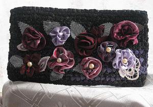 клатч, украшенный цветами, Женские сумки ручной работы
