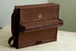 Сумка Пианино из Коричневого Фетра, Женские сумки ручной работы