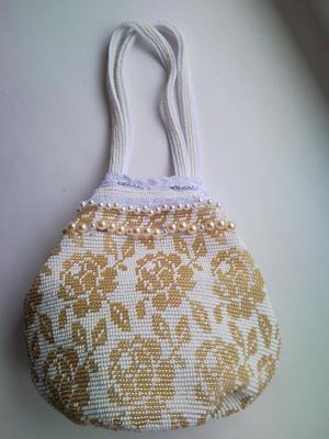 Бисерная сумочка невесты, Свадебные аксессуары ручной работы