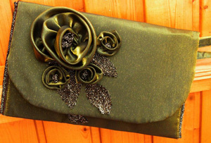 золотой клатч, Женские сумки ручной работы