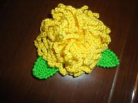 Брошь Хризантема желтая