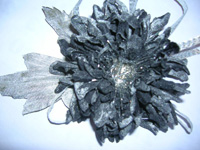 Черная хризантема «ИНЕЙ»
